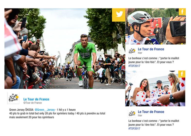 Le Tour de France - réseaux sociaux